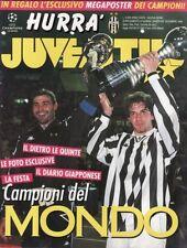 RIVISTA=HURRA JUVENTUS=DICEMBRE 1996=CAMPIONI DEL MONDO=ASSENTE MEGAPOSTER