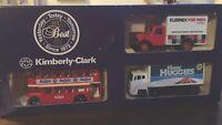 Lledo KLEENEX Kimberley Clark 3 model set LP59 Bedford LP75 D/D Bus MP4 Leyland
