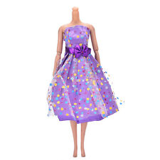 Fashion Doll Dress Beautiful Party Clothes Top Fashion Dress For Barbie Doll E&F