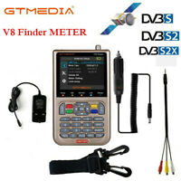 Digital Satellite Signal Finder GTMedia FTA DVB-S2X 3.5'' HD LCD V8 Finder Meter