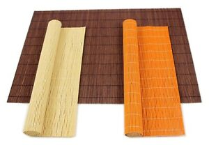 Table Placemats Japanese Bamboo Style Dining Setting Wooden Wedding Party