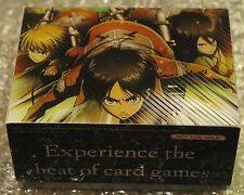 Weiss Schwarz WS Attack on Titan Eren, Mikasa, Armin Limited Deck Box  BRAND NEW