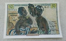 "50 Francs French West Africa ""Yoruba Wedding"" 1956 aUNC"