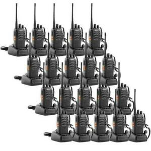Walkie Talkie 16ch Two way Radio Long Range Radios Talkies Uhf Baofeng Lot New