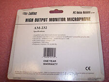 AM-232 LABTEC PC VOICE ACCESS HIGH OUTPUT MONITOR MIC 3.5mm PLUG NOS