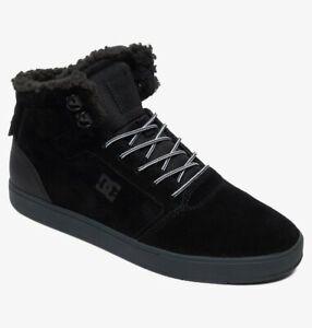 DC Men's CRISIS Sherpa Winter BLACK/GREY  Mid Top Shoes Trainers UK 9 UK 10.5