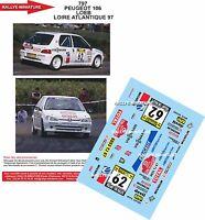 DECALS 1/18 REF 797 PEUGEOT 106 SEBASTIEN LOEB RALLYE LOIRE ATLANTIQUE 1997