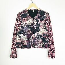 Xhilaration Blazer Size XL Open Front Floral Print Long Sleeve Quilted Body
