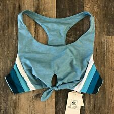 Rip Curl Women's New Wave Crop Top Bikini Medium M - GSIMT7