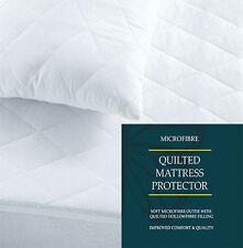 """12"""" EXTRA DEEP LUXURY MICROFIBER QUILTED MATTRESS PROTECTOR BED COVER ALL SIZES"""