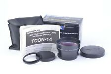 NIB OLYMPUS TCON-14 1.45X TELECONVERTER LENS 43mm-46mm w/STEP UP RING AND POUCH