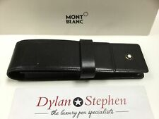 Montblanc Meisterstuck black leather two pen leather pouch