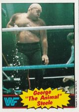 "1985 Topps WWF George ""The Animal"" Steele #21 Pack Fresh"