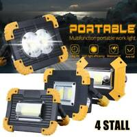 1pc Portable LED Floodlight Rechargeable Emergency Lamp Outdoor COB Work Light-