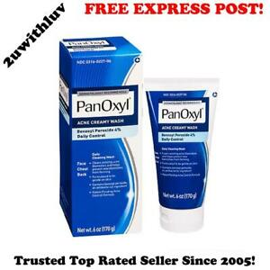 PANOXYL BENZOYL PEROXIDE 4% CREAMY ACNE WASH 170g *FREE EXPRESS POST*