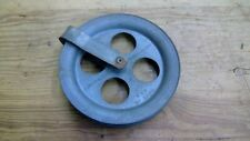 """Cool Galvanized Outdoor Steel 5 1/2"""" Clothes Line Pulley Vintage Steampunk"""