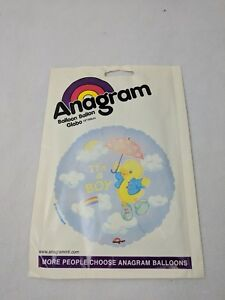 """Anagram 18"""" Balloon It's a Boy Duck Baby Shower Vintage 1998 Amscan New"""