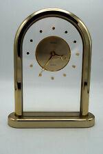 50er Vintage Tischuhr Uhr Seiko Quartz Acryl Mid-Century Kaminuhr 60er