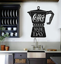 Vinyl Wall Decal Coffee Maker Quote Shop Kitchen Stickers Mural (ig4350)