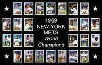 1969 NEW YORK METS World Series POSTER Man Cave Decor Wall Art Fan Xmas Gift NY