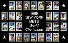 NEW YORK METS 1969 World Series Vintage Baseball Card Custom Poster Decor Art NY