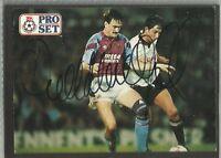 1991 Pro Set card: DEREK MOUNTFIELD (Aston Villa), ORIGINALLY SIGNED!