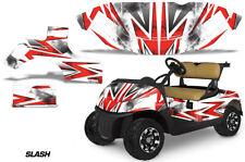 Golf Cart Graphics Kit Decal Sticker Wrap For EZ-Go TXT 2014-2018 SLASH RED