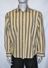 Axis Mens Long Sleeve Button Down Shirt Size XL Lite Brown Retro Design Cotton