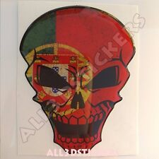 Sticker Flag Portugal Skull Adhesive Decal Resin Domed Car Moto Tablet Laptop 3D
