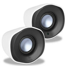 Logitech Z110 2-Piece 3.5mm Multimedia Analog Stereo Speaker (White) USB Powered