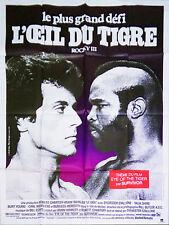 Affiche 120x160cm ROCKY 3 - L'OEIL DU TIGRE (1983) Sylvester Stallone - Talia Sh