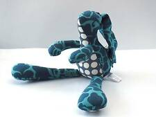 Soft Toy Bunny Rabbit Blue Stripes and dots Hand Made Fair Trade by Zen Zen