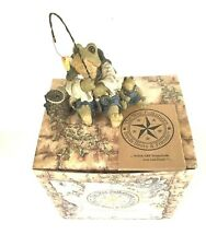 The Wee Folkstone's Fishing Frogs~Boyds Bears & Friends Original Box Signed