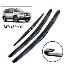 Front Rear Wiper Blades Kit Fit For Nissan X-Trail T31 2007-2013 08 09 3PCS/Set
