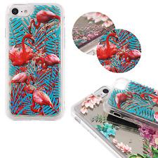 ^ FUN CASE 3D Mirror Spiegel Glitzer Schale Flamingo Bunt Für Apple iPhone 7 4,7