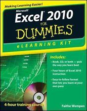 Excel 2010 eLearning Kit For Dummies Wempen, Faithe