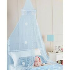 Kids SnowFlake Bed Canopy – Light Blue