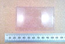 Flat Plastic Fresnel Convex Lens Magnifier, Credit Card Sized