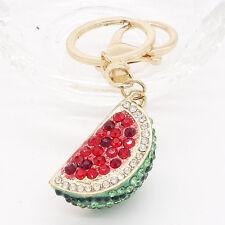 Key Ring Purse Bag watermelon Rhinestone CZ Keyring Keychain charm Pendant Gift