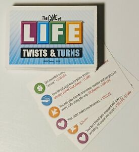 The Game of Life Twist And Turns Complete Set of 84 Life Cards Replacement Part
