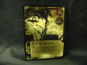 Naruto CCG TCG - Fear By Genjutsu 640 Black & Gold Super Rare Foil Holo Card