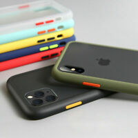 For iPhone 11 XS Max XR 6S 8 Plus Bumper Hard Case Matte Clear Protective Cover