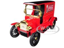 "1917 FORD MODEL T CARGO VAN ""COCA-COLA"" RED 1/24 BY MOTORCITY CLASSICS 424197"