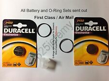 2 Duracell battery set for Oceanic Veo 1-3 and VT Pro dive computers + grease