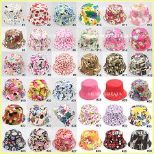 36 Designs Floral Print Bucket Sun hat Fishing Camping Beach Hat Boys Girls Kids