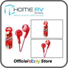 JVC HA-F160 Gumy In-Ear Headphones iPod/iPhone Compatible in Raspberry Red