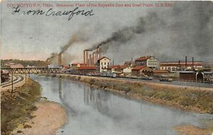 H66/ Youngstown Ohio Postcard c1907 Bessemer Plant Republic Steel 159