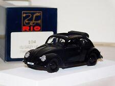 VOLKSWAGEN BEETLE KDF 1939 BLACK WITH SUN ROOF OPENING DOORS RIO 104 1:43