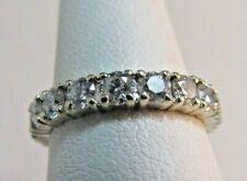 14K WHITE Gold 3Ct. Diamond Ring/Wedding Band Size 6 SALE-SAVE 2,600. #R89