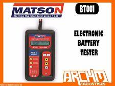 MATSON BT001 ELECTRONIC BATTERY TESTER 6V 12V 40-2000 CCA CAPACITY